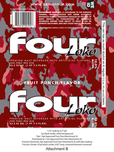 FTC Requires Packaging Changes for Fruit-Flavored Four Loko Malt Beverage
