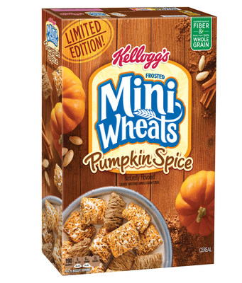 Frosted Mini-Wheats(R) Pumpkin Spice cereal begins arriving at retailers this month, only while supplies last.