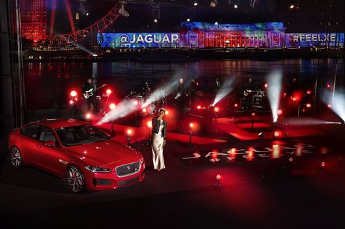 Emeli Sande performs live on the River Thames as part of the global reveal of the new Jaguar XE in London, England, Sept 8th (PRNewsFoto/Jaguar)