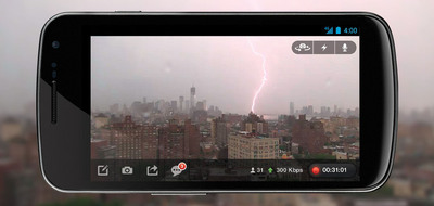 Livestream Launches Free Android App Enabling Anyone to Broadcast Live Video Directly From Their Phone Accompanying full editorial coverage of Hurricane Sandy is available on Livestream.com.  (PRNewsFoto/Livestream)