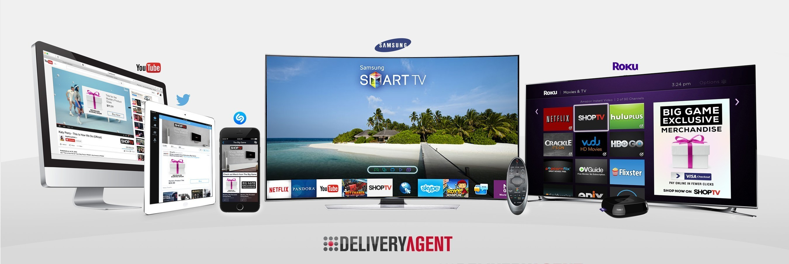 Delivery Agent's ShopTV(R) Television Commerce Platform Powers the First Shoppable Halftime Show with Samsung, Twitter, Roku, Shazam, Visa and YouTube
