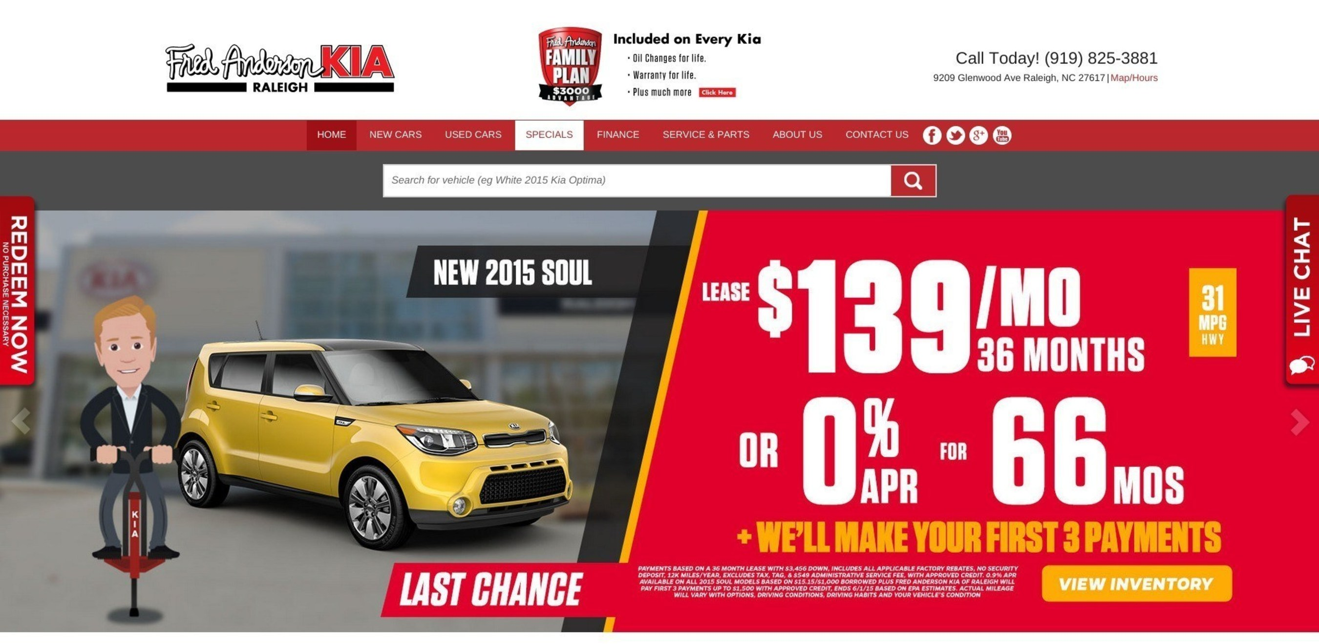 Fred Anderson Kia unveils new, responsive website