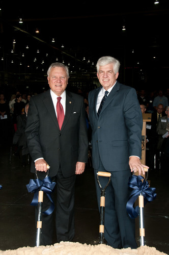 The Honorable Nathan Deal, Governor of Georgia, and Jim Hawk, President, Toyo Tire North America Manufacturing,  ...