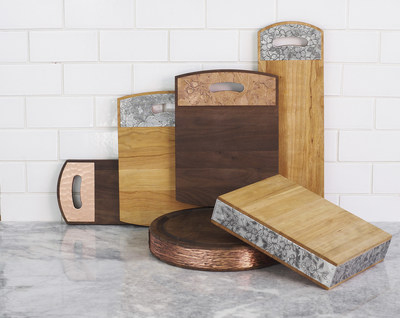 Wendell August and Warther Cutlery present a new collection of cutting boards combining meticulous woodworking with hand hammered metal. The result is a board that is both beautiful and functional.