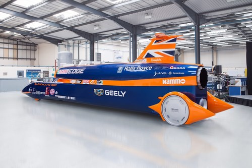 Geely Announced as Lead Partner for 1000mph BLOODHOUND Project #BloodhoundIsGo (PRNewsFoto/The BLOODHOUND ...