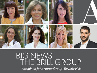 John Aaroe Group, a leading Los Angeles luxury residential real estate brokerage firm, has announced that Beverly Hills-based Brill Group has joined the firm. The team is comprised of Mary Brill, Jane Brill Gavens, Afa Shafa, Patricia Tercek, Kathie Arastoo, Alexis Assouline and Jacob Dadon.