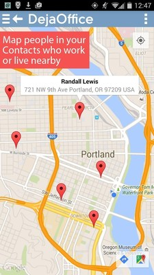 Map people in your Contacts who work or live nearby