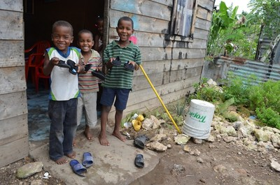 Shoes help protect children's feet from harmful debris and contaminated soil.