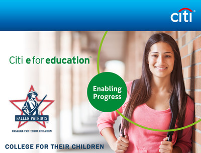 We're sending more military children of the fallen to college thanks to Citi e for education.
