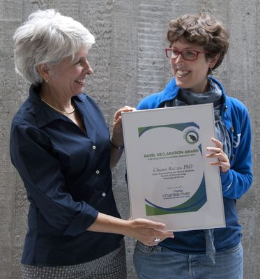 """A Young Researcher from Italy Wins this Year's """"Basel Declaration Award for Education in Animal Research"""""""