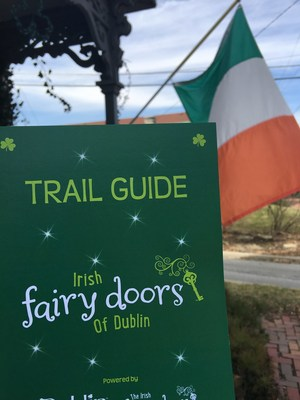 Following the ribbon cutting on Saturday, March 12, visitors to the Irish Fairy Doors of Dublin Trail are encouraged to pick up a passport-style trail guide and map to facilitate their travels through Historic Dublin.