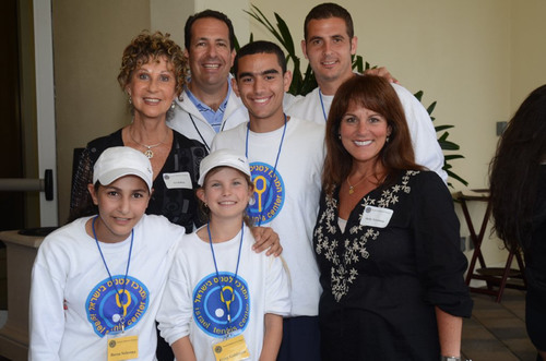 Israel Children's Centers Tennis Exhibition at BallenIsles Country Club. (Pictured left to right) Back Row:  ...