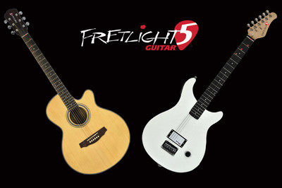 Fretlight 5 - Designed specifically for Beginning Guitar Players.  Acoustic and Electric Models starting at $249.99 (PRNewsFoto/Fretlight Guitar)