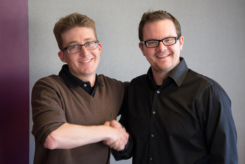 Dan Burcaw, Founder of Double Encore and Ben Reubenstein, CEO of Xcellent Creations expect to be top choice for leading brands who need mobile application experts. (PRNewsFoto/Double Encore) (PRNewsFoto/DOUBLE ENCORE)