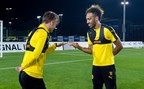 'Who will be taking Dortmund's #18toWin penalty? Marco Reus or Pierre-Emerick Aubameyang?' (PRNewsFoto/FOX Sports)