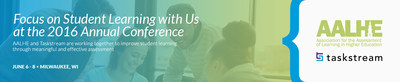 Meet AALHE and Taskstream both at the 2016 AALHE Annual Conference, June 6-8, in Milwaukee, WI.
