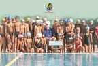 Coach Richard Shoulberg with young swimmers in Mumbai