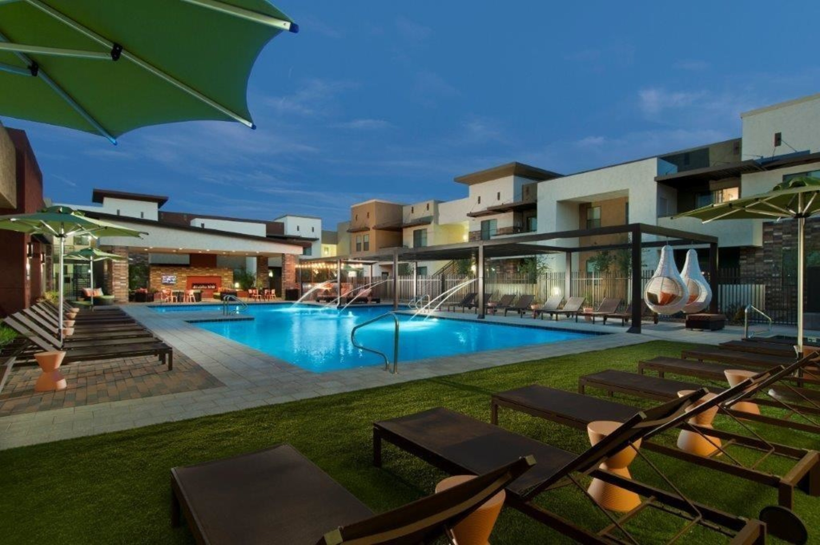 Pool area at Vive in Chandler, Arizona