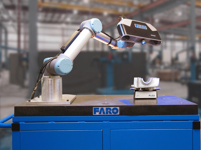 Cobalt Array Imager is compact and lightweight - easily mountable on human-collaborative robots for inspection of small parts