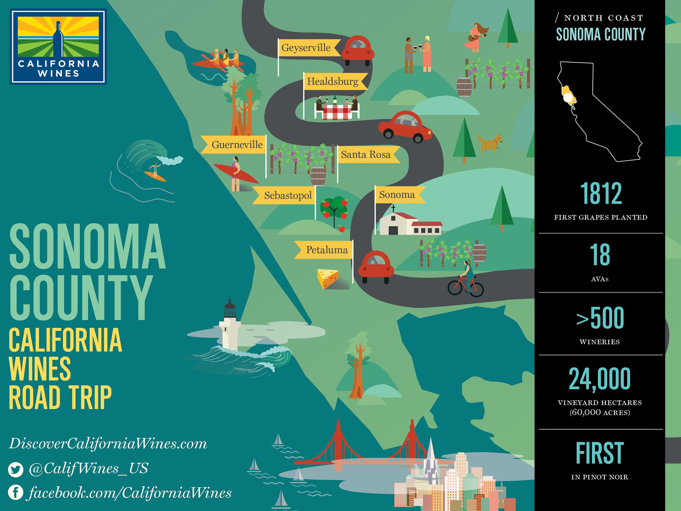 Explore Sonoma County on a California Wines Road Trip