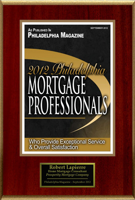 "Robert LaPierre Selected For ""2012 Philadelphia Mortgage Professionals"".  (PRNewsFoto/American Registry)"