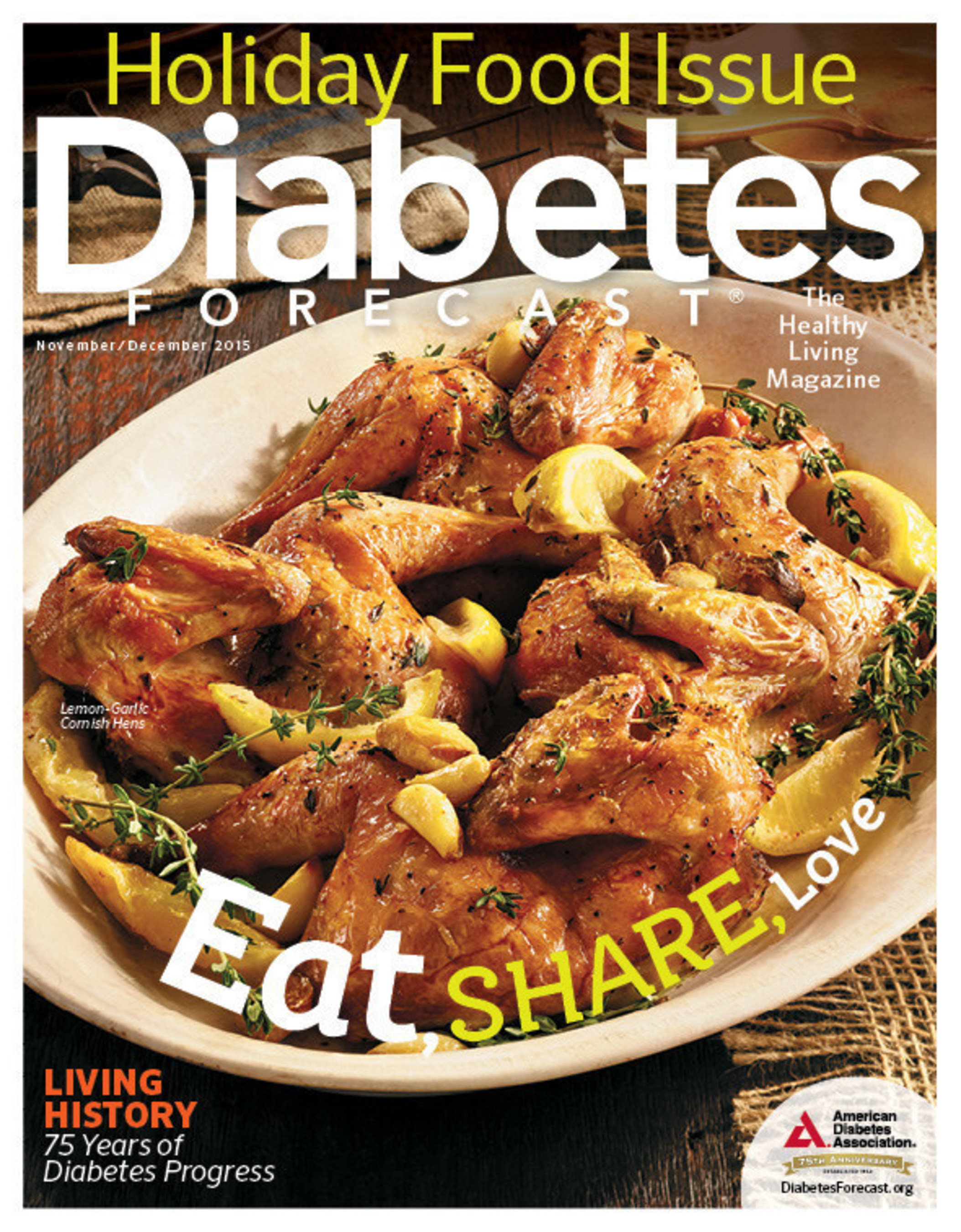 Eat Well, America!(SM) This Holiday Season with Delicious Recipes from Diabetes Forecast