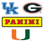Panini America agrees to terms for exclusive rights to trading cards with three major universities: Georgia, Kentucky and Miami.