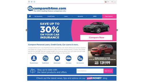 A screenshot of the newly launched car insurance portal by compareit4me.com (PRNewsFoto/compareit4me.com) (PRNewsFoto/compareit4me.com)