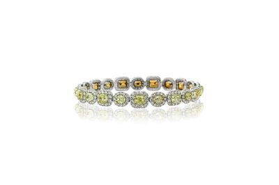 AVAKIAN fancy yellow diamond bracelet
