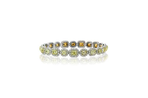 AVAKIAN fancy yellow diamond bracelet