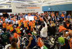 Riders at a Cycle for Survival event raising money for rare cancer research