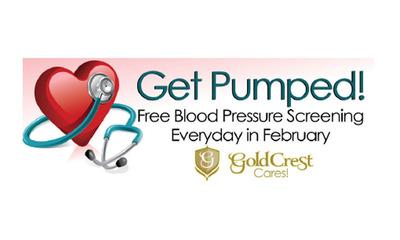 Get Pumped! Gold Crest Free Blood Pressure Screening.  (PRNewsFoto/Gold Crest Care Center)