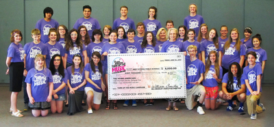 West Ottowa High School receives surprise 8k from The Young Americans (PRNewsFoto/The Young Americans)