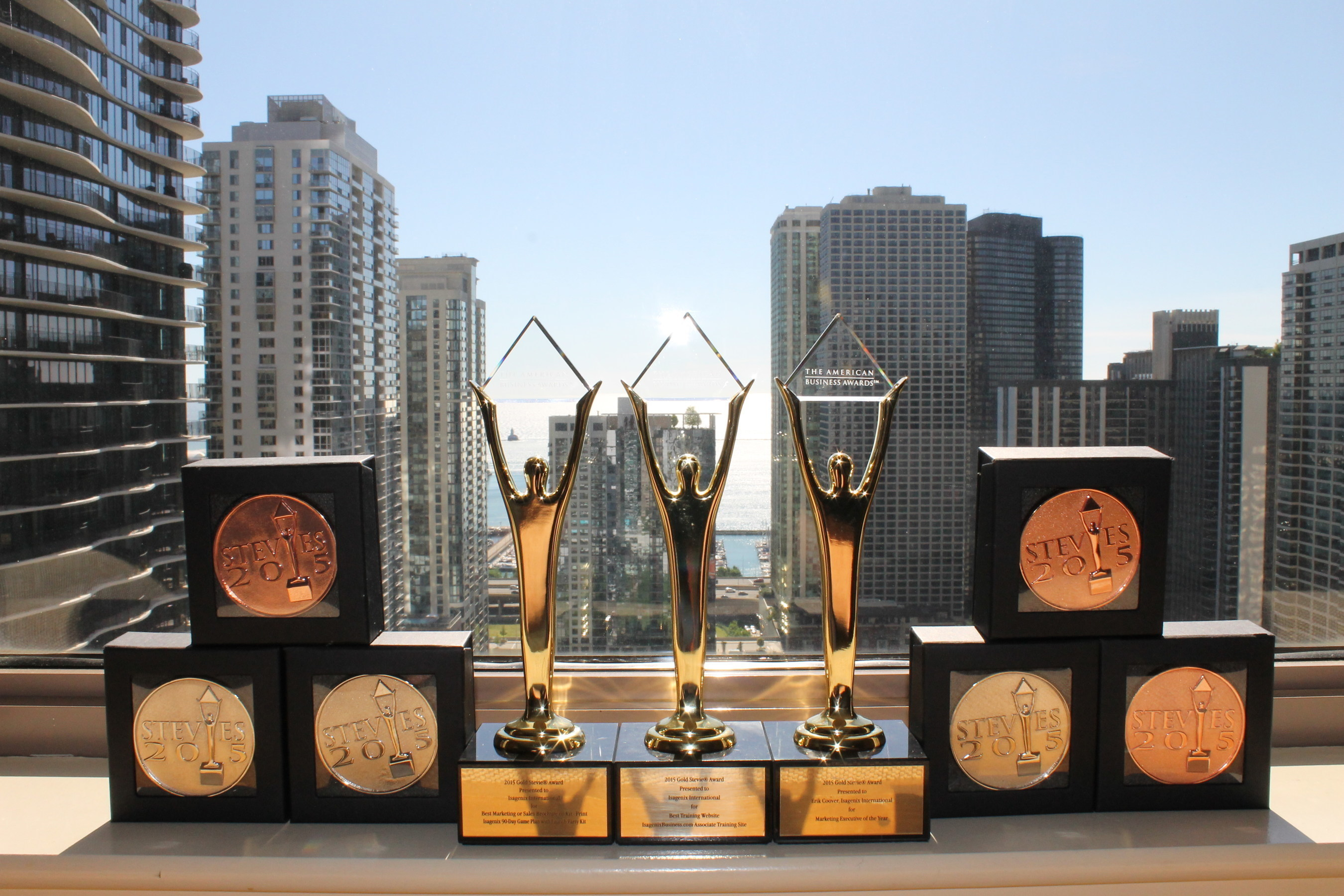 Isagenix receives 9 American Business Awards including three golds.