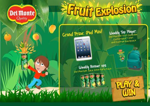 Del Monte Arabia launches FRUIT EXPLOSION, a fun and interactive Facebook game, on 17 Nov 2013, with exciting prizes to be won! (PRNewsFoto/Del Monte Foods)