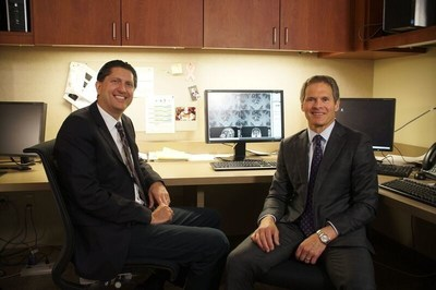 (R) Anthony L. Asher, MD, FACS, medical director at Carolinas HealthCare System's Neurosciences Institute and the senior author on the report, and (L) Stuart H. Burri, MD, chairman, department of radiation oncology at Levine Cancer Institute, spearheaded an international, multi-institutional, randomized trial that will ultimately improve the standard of care for patients with a specific type of brain tumor, brain metastases, by reducing the toxicity of their treatment without reducing the effectiveness.