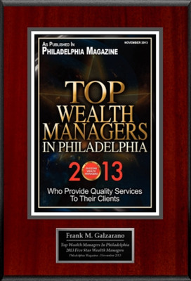 "Frank Galzarano Selected For ""Top Wealth Managers In Philadelphia 2013"".  (PRNewsFoto/American Registry)"
