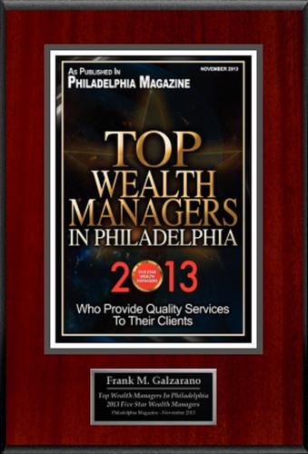 "Frank Galzarano Selected For ""Top Wealth Managers In Philadelphia 2013"". (PRNewsFoto/American Registry)  ..."