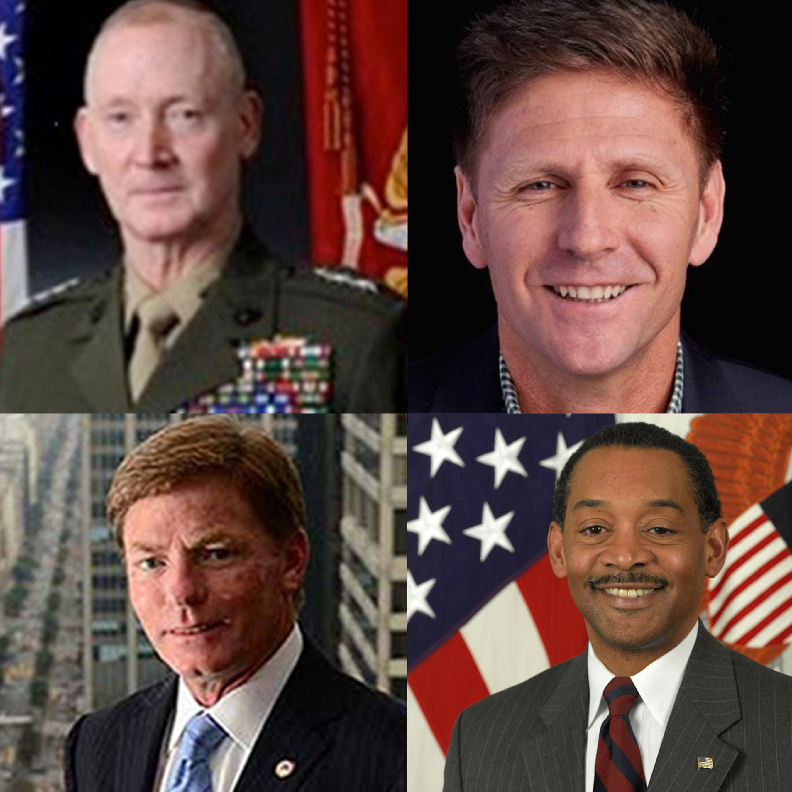 Wounded Warrior Project welcomes four new members to its board of directors. Lt. Gen. (RET) Richard Tryon (top left), the Honorable Juan Garcia (top right), Mr. Ken Fisher (bottom left), and Dr. Jonathan Woodson (bottom right).