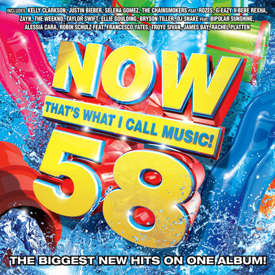 "The world's best-selling, multi-artist album series, NOW That's What I Call Music! has gathered today's biggest hits for 'NOW That's What I Call Music! Vol. 58,' to be released April 29. 'NOW That's What I Call Music! Vol. 58' features 16 major current hits from today's hottest artists, plus six free up-and-coming ""NOW What's Next"" New Music Preview tracks.   The 'NOW' series has generated sales exceeding 250 million albums worldwide, including more than 97 million in the U.S. alone."