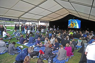 The Talisker Challenge Rowing Powered Cinema is the World's First Cinema to be Powered by Rowing Machines
