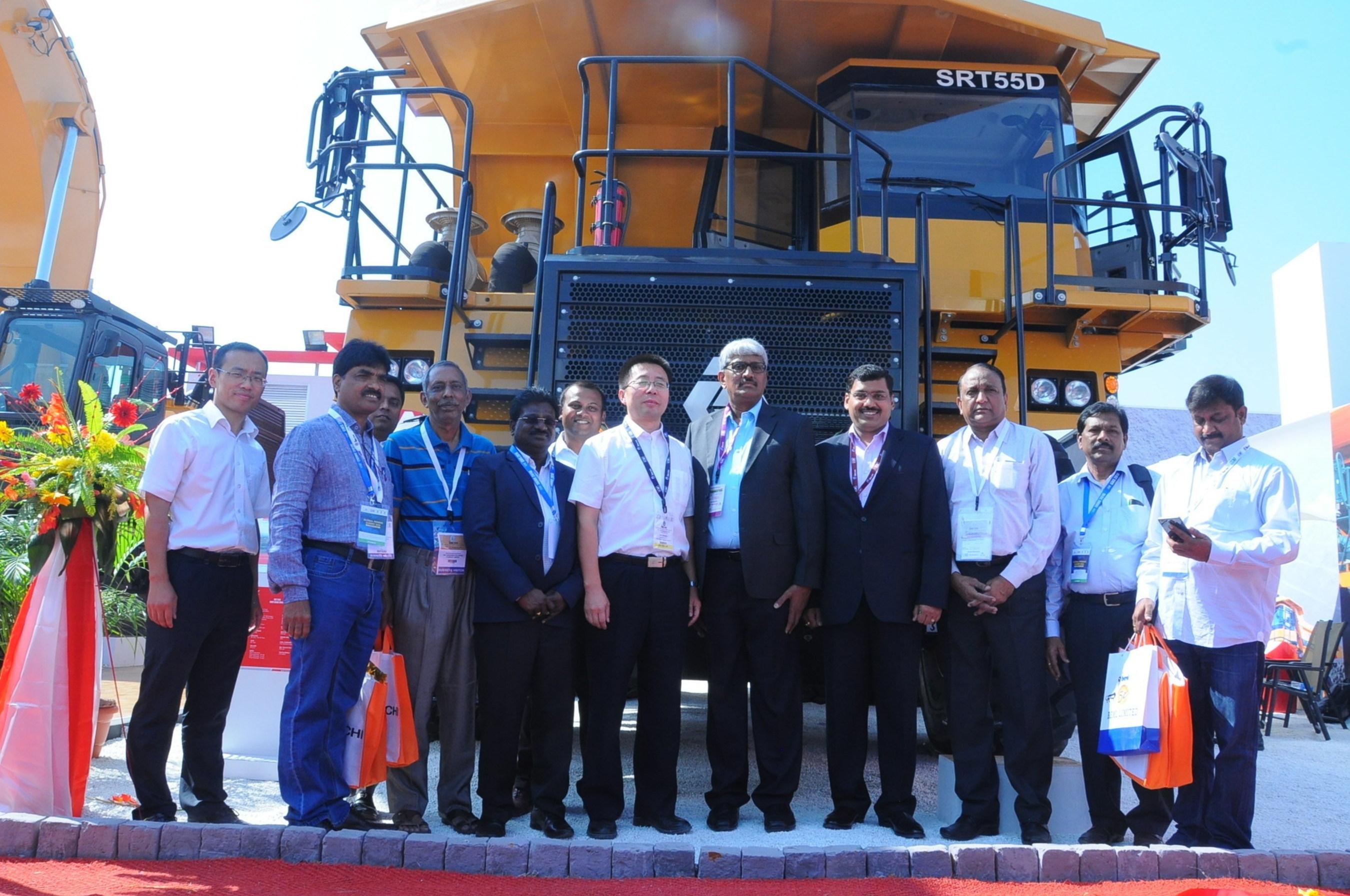 Left to Right : Mr. Man Juncheng, Head - R&D, SANY Mining Equipment Co Ltd, Mr. B. Ramesh Kumar - Director - Operations, The Singareni Collieries Company Limited, Mr. Deepak Garg - CEO , SANY Heavy Industry India Pvt Ltd