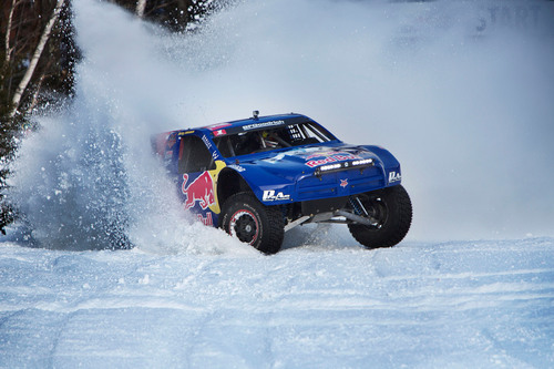 Red Bull Frozen Rush will pit 8 off-road trucks head-to-head for the first time on snow at Sunday River Resort,  ...