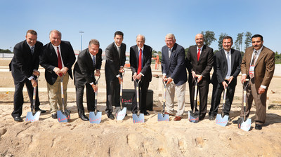 Groundbreaking ceremony for Live! Hotel in Hanover, Maryland. Pictured L to R: Taylor Gray, The Cordish Companies; Doug Shipley, Live! Casino; Anne Arundel County Executive Steven Schuh; Jon Cordish, The Cordish Companies; David Cordish, Chairman, The Cordish Companies; Maryland State Senator Ed DeGrange;
