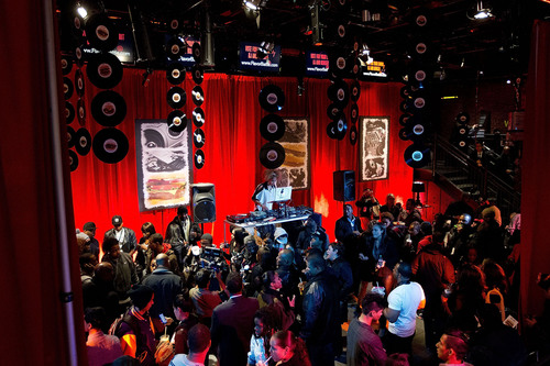 More than 150 NYC audiophiles attended the McDonald's Flavor Battle launch party in Times Square, with ...