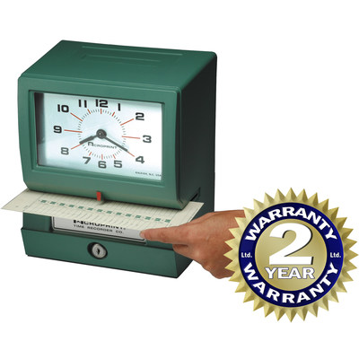 Acroprint's iconic green clock is recognized worldwide. Acroprint products are used daily around the globe to record employee time and attendance.