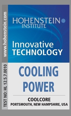 "Coolcore is the only Company globally to receive for ""Cooling Power"""