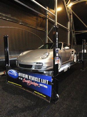 Direct Lift representatives will be at Barrett-Jackson Las Vegas, the SEMA Show and the GoodGuys Autumn Get-Together this fall to help educate attendees about the benefits a lift offers when working on and storing vehicles. (PRNewsFoto/Direct Lift)