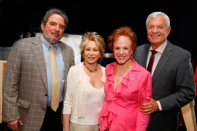 (L to R) Jeffrey Glassman, chair, board of directors, Los Angeles Jewish Home, Joyce Brandman, Joyce Eisenberg-Keefer, and Richard Ziman, chair, Jewish Home Foundation.  (PRNewsFoto/Los Angeles Jewish Home)