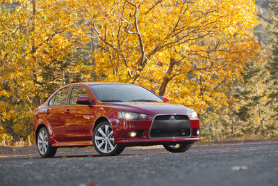 """The versatile and stylish 2013 Mitsubishi Lancer compact sport sedan has been named """"Top Safety Pick"""" by the Insurance Institute for Highway Safety (IIHS).  (PRNewsFoto/Mitsubishi Motor Sales of America, Inc.)"""